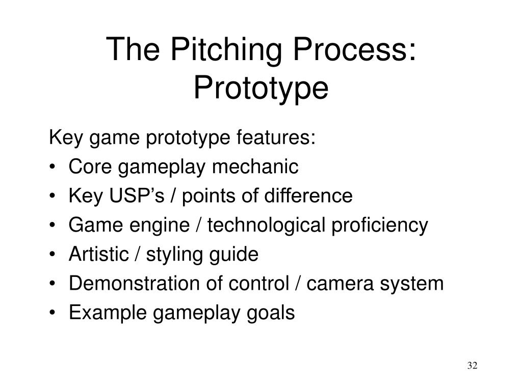 The Pitching Process: Prototype