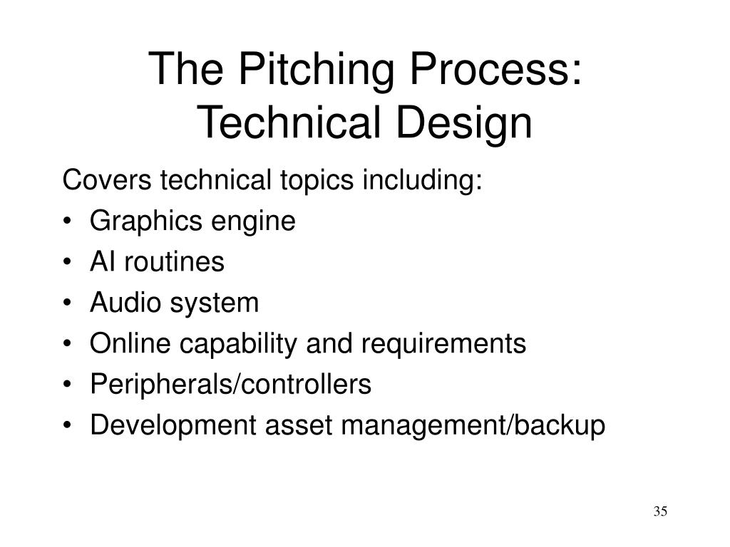 The Pitching Process: