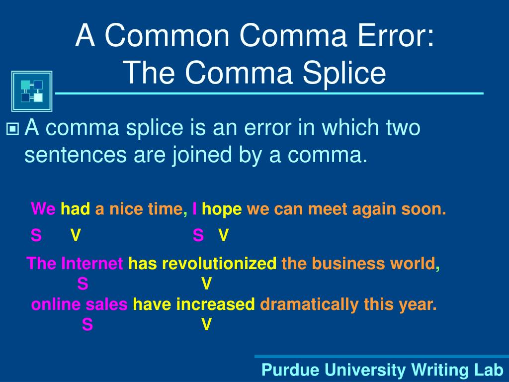 A Common Comma Error: