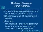 sentence structure direct address