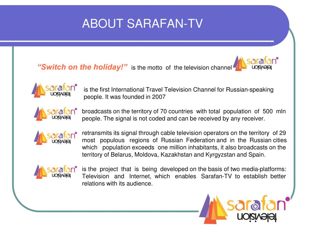 ABOUT SARAFAN-TV