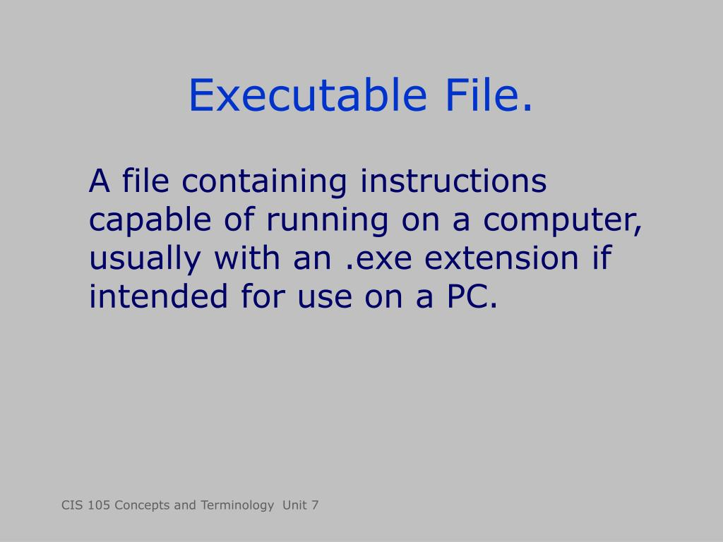 Executable File.