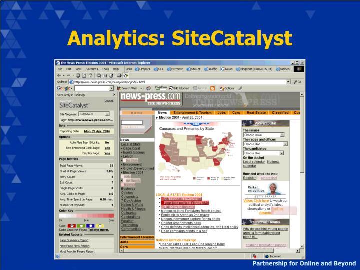 Analytics: SiteCatalyst