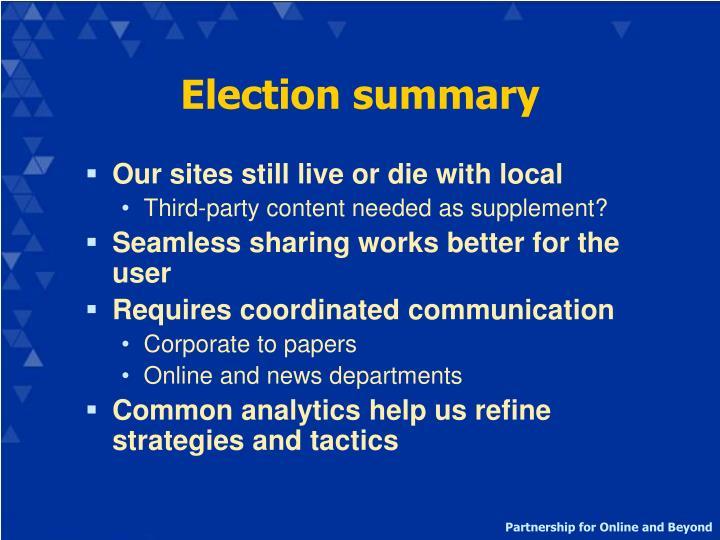 Election summary