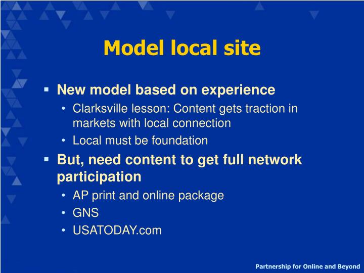Model local site