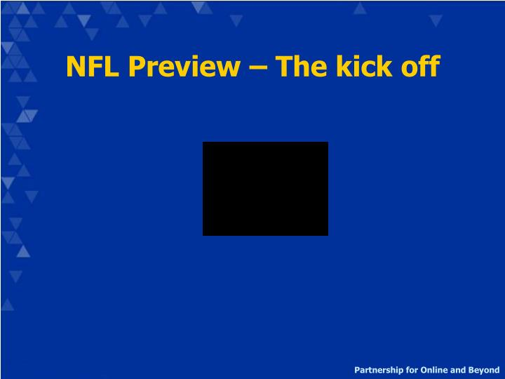 NFL Preview – The kick off