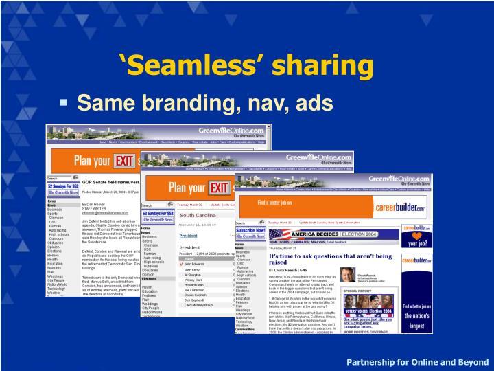 'Seamless' sharing