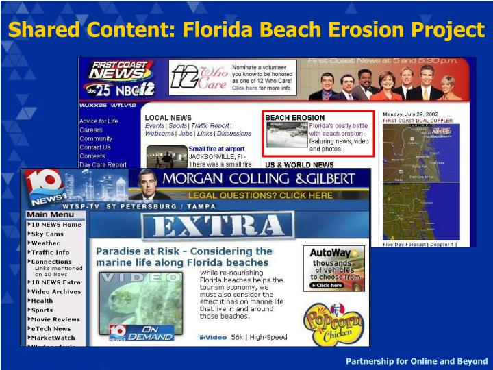 Shared Content: Florida Beach Erosion Project
