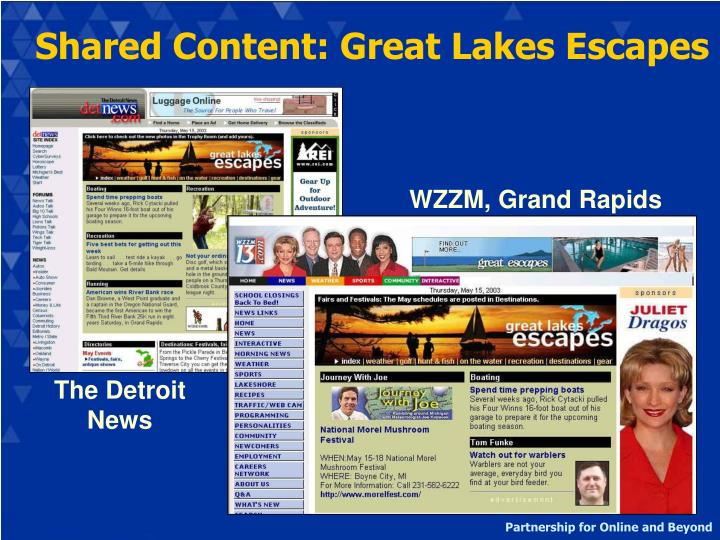 Shared Content: Great Lakes Escapes