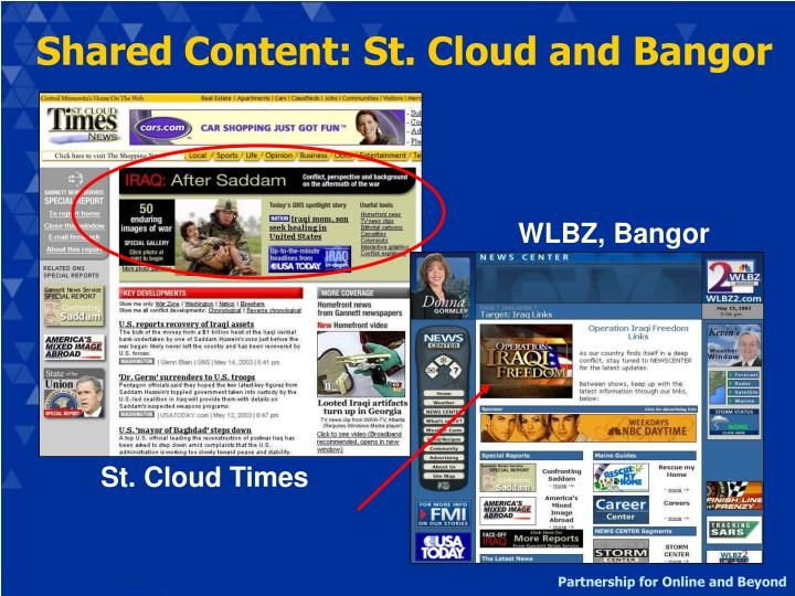 Shared Content: St. Cloud and Bangor