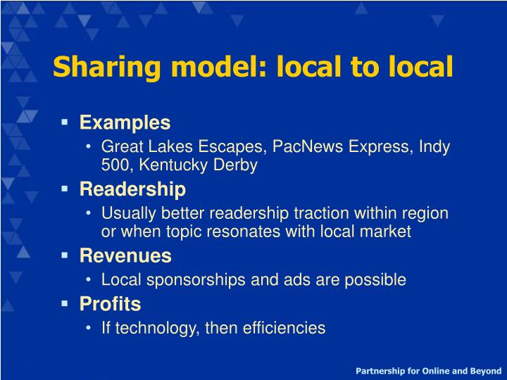 Sharing model: local to local