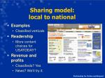 sharing model local to national