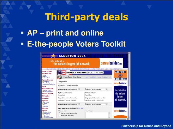 Third-party deals