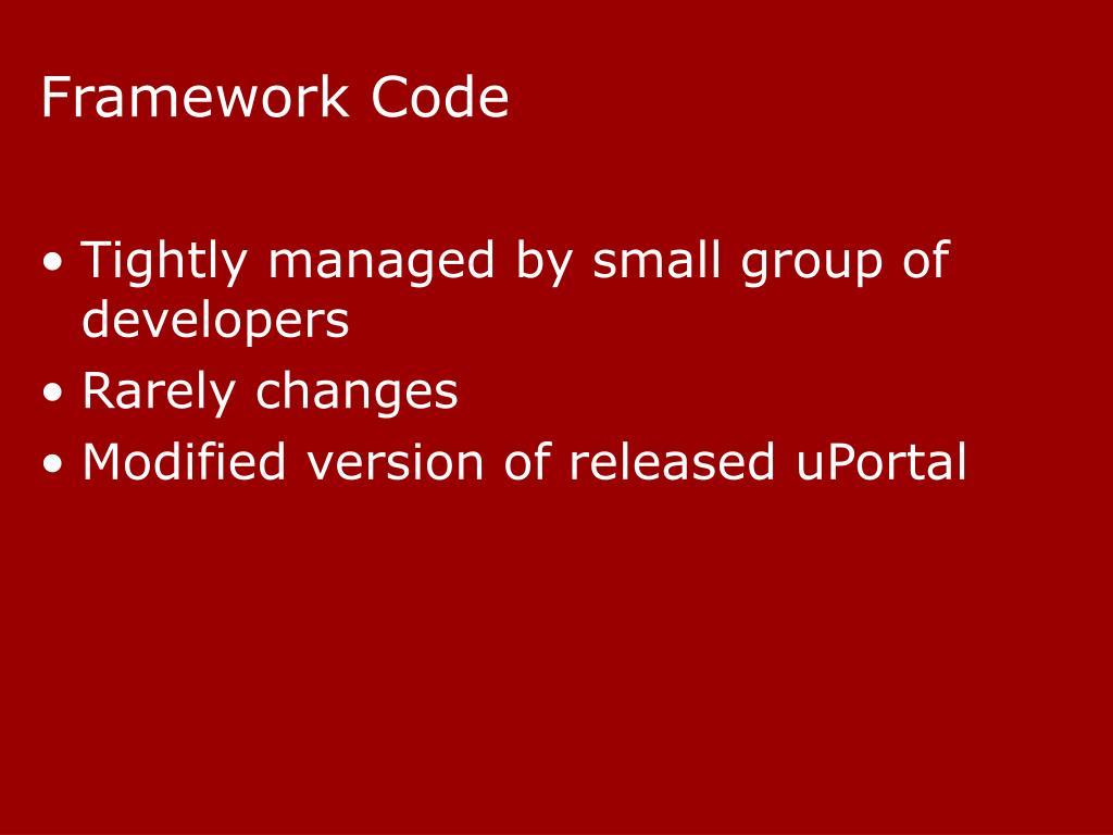 Framework Code