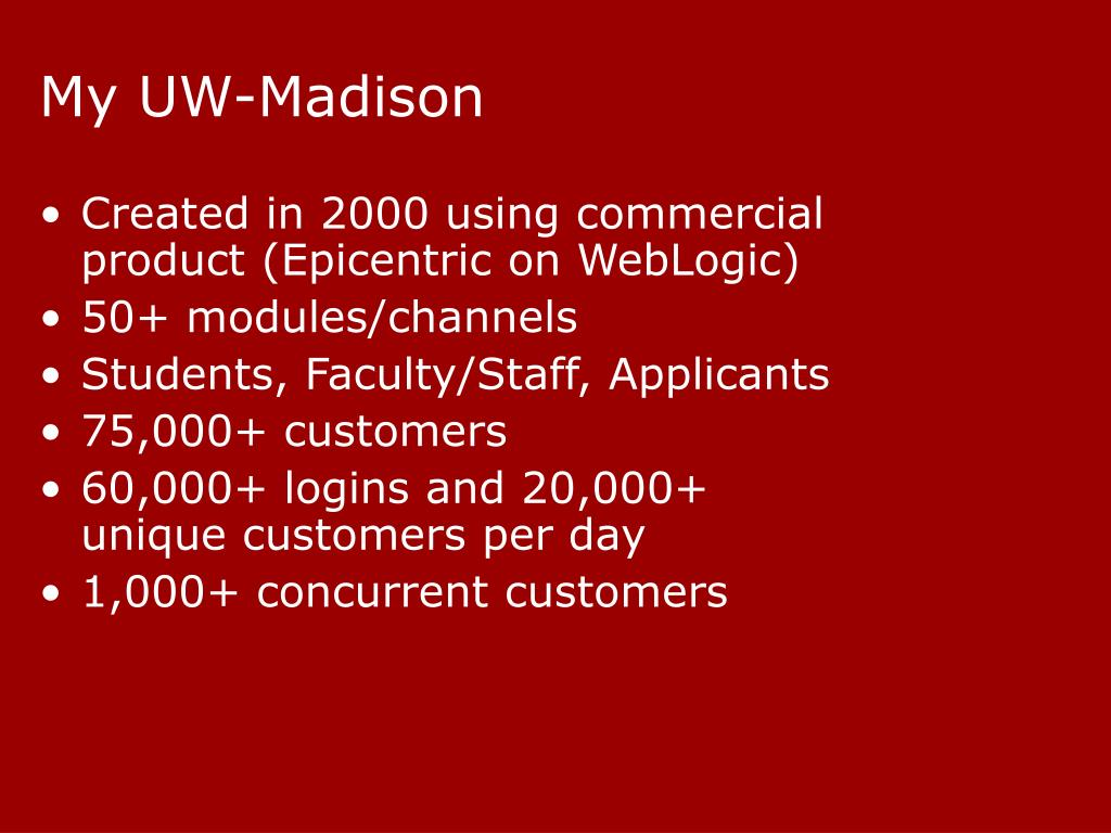 My UW-Madison