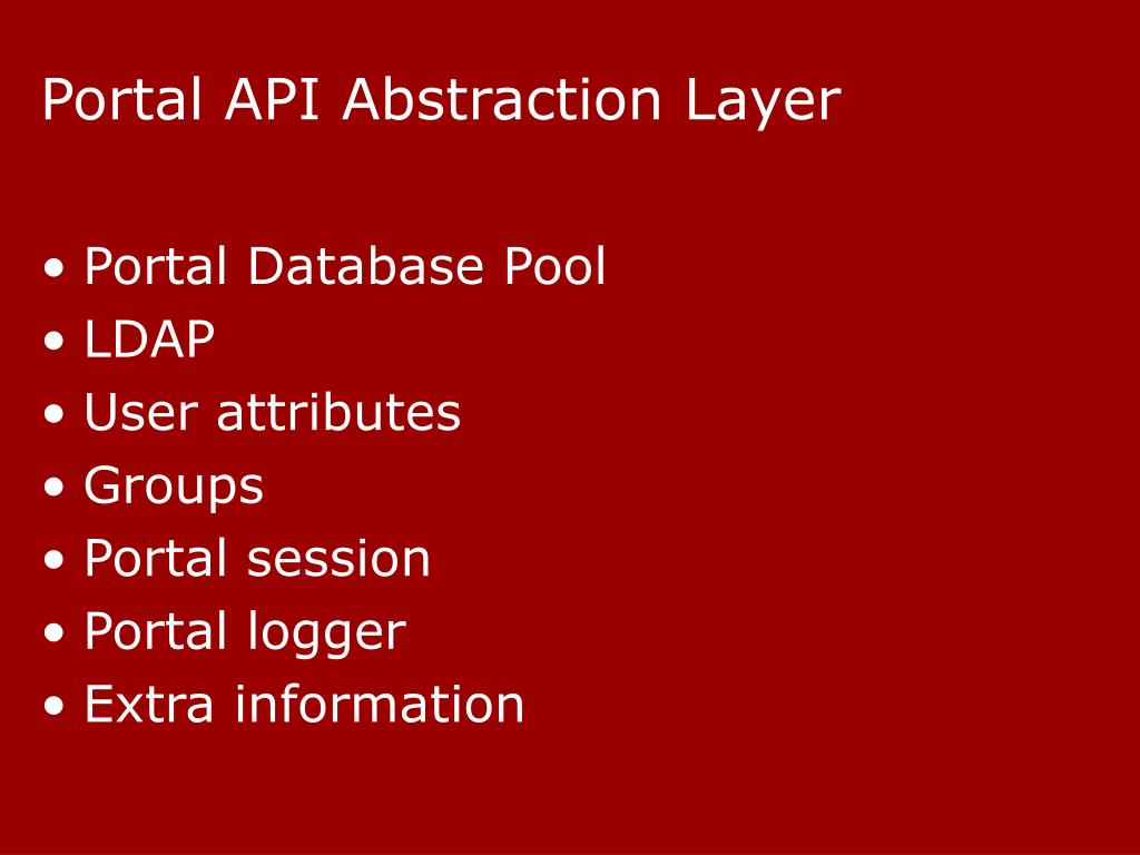 Portal API Abstraction Layer