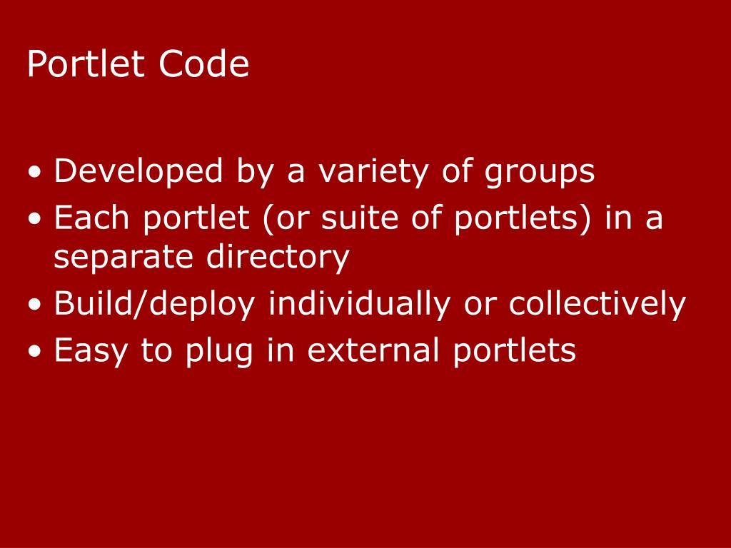 Portlet Code