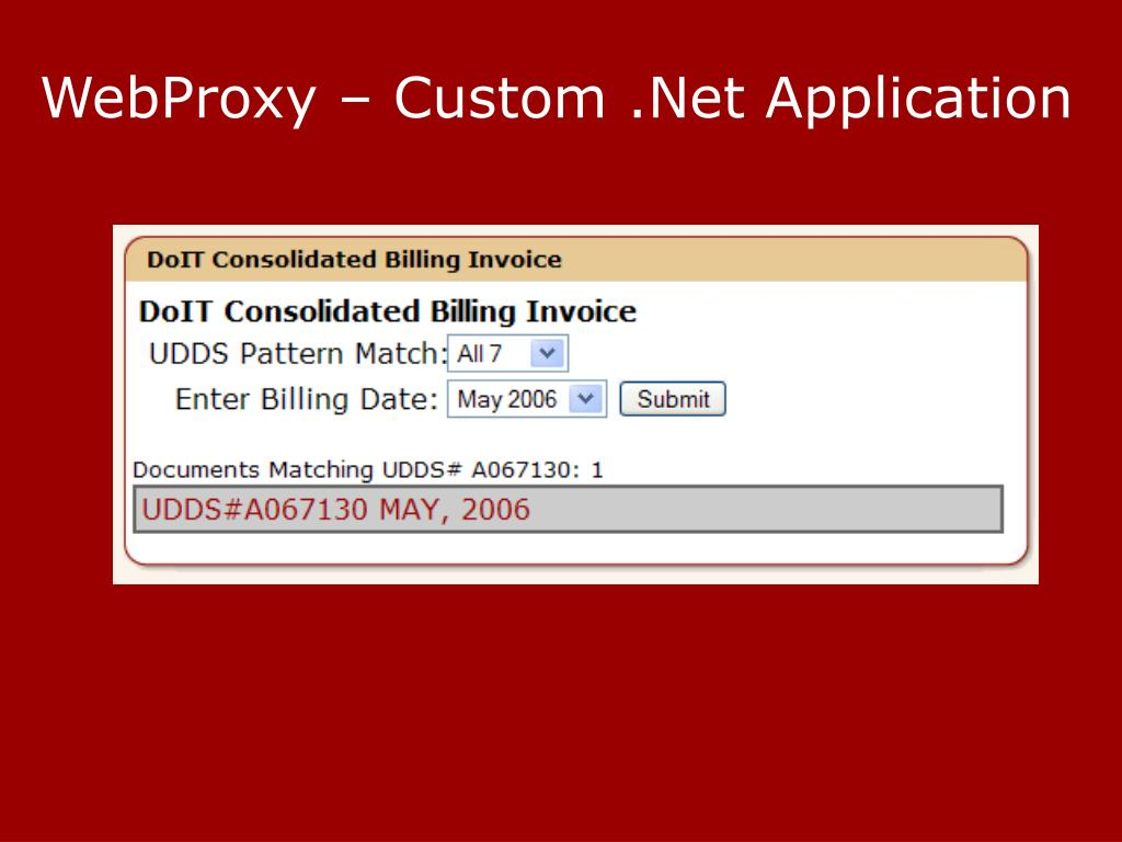 WebProxy – Custom .Net Application