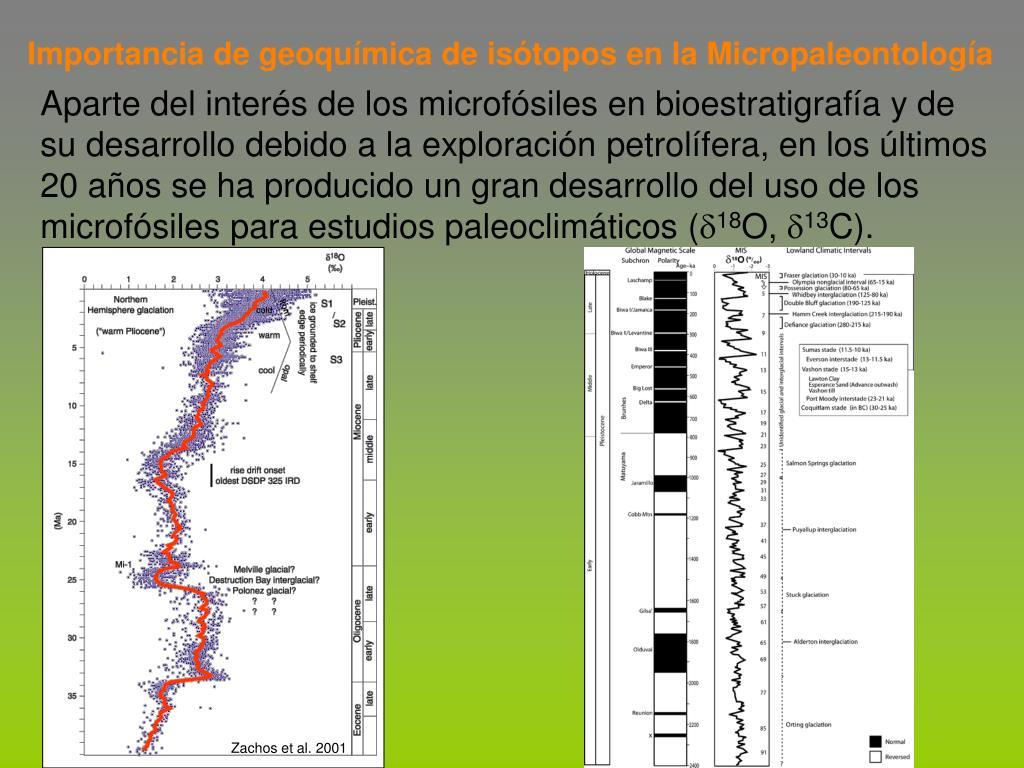 Importancia de geoquímica de isótopos en la Micropaleontología