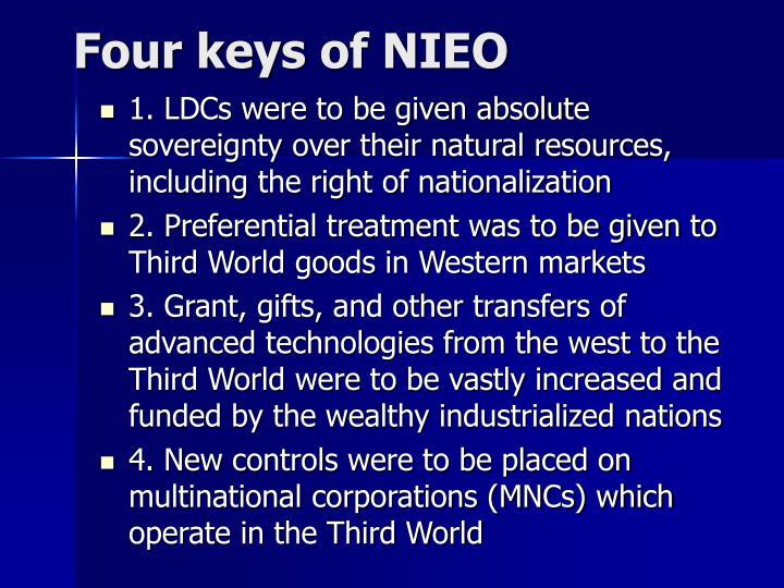 Four keys of NIEO