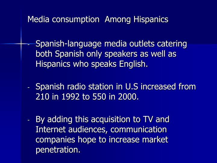 Media consumption  Among Hispanics