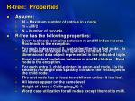 r tree properties