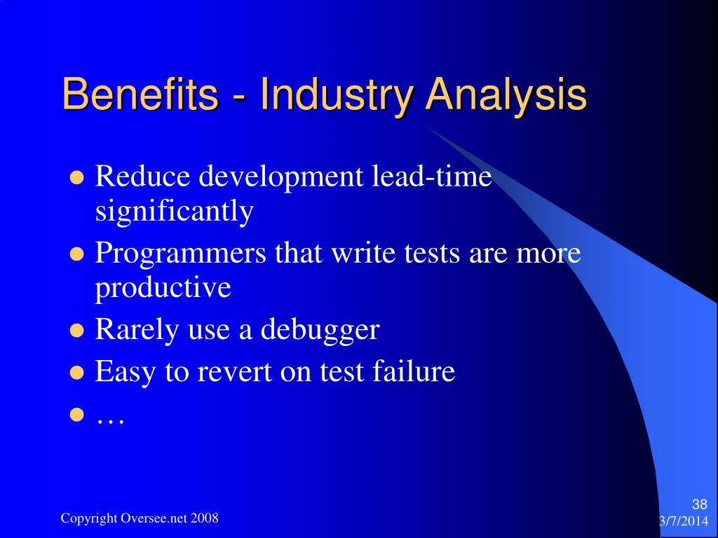 Benefits - Industry Analysis