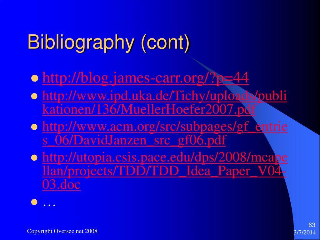 Bibliography (cont)