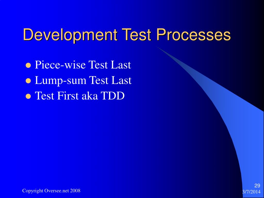 Development Test Processes