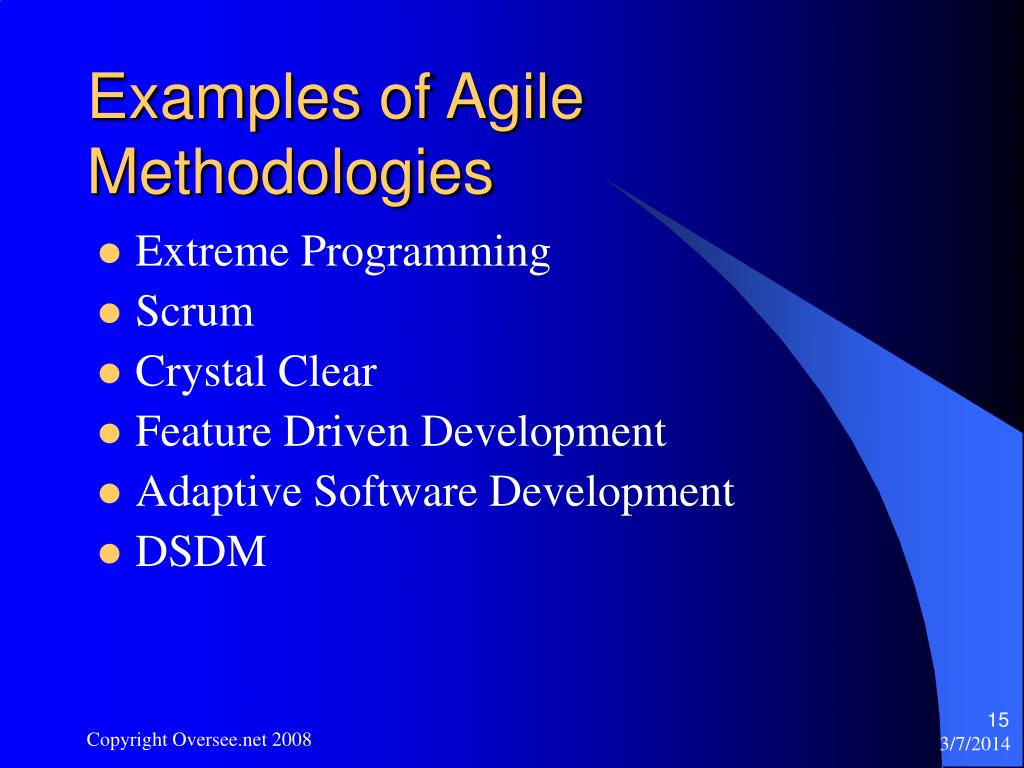 Examples of Agile Methodologies