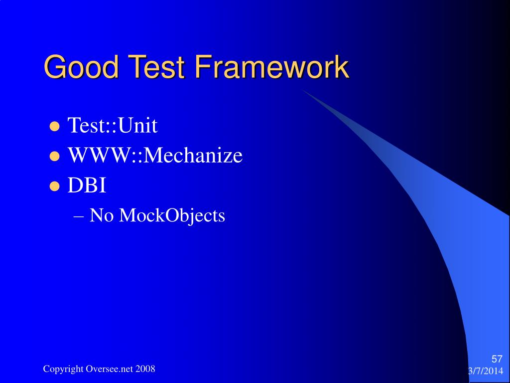 Good Test Framework