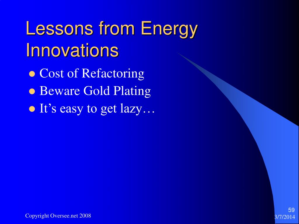 Lessons from Energy Innovations