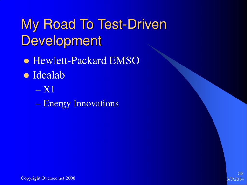 My Road To Test-Driven Development