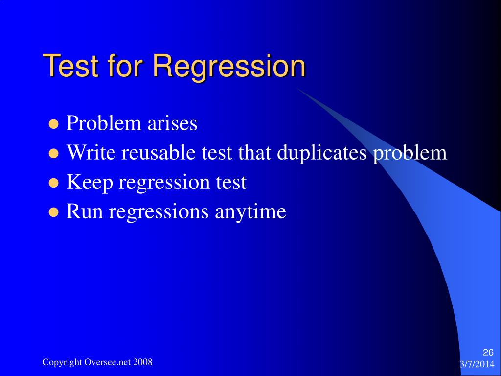 Test for Regression