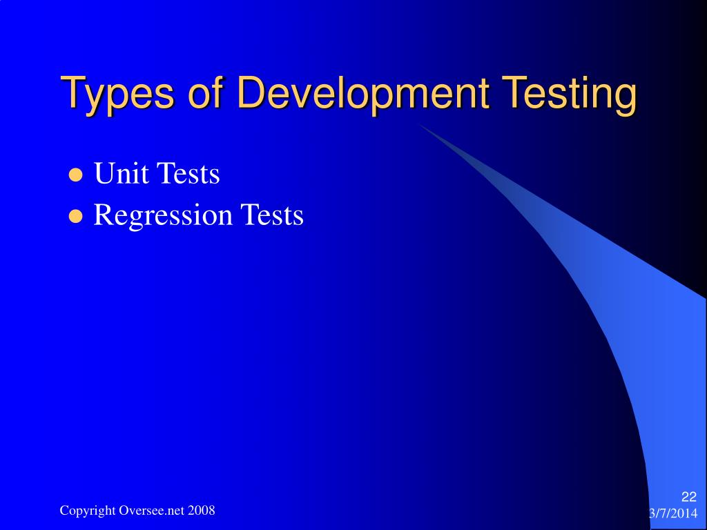 Types of Development Testing