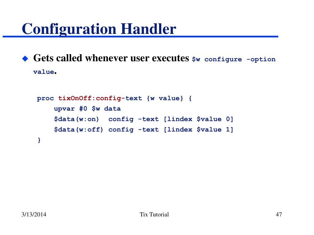 Configuration Handler