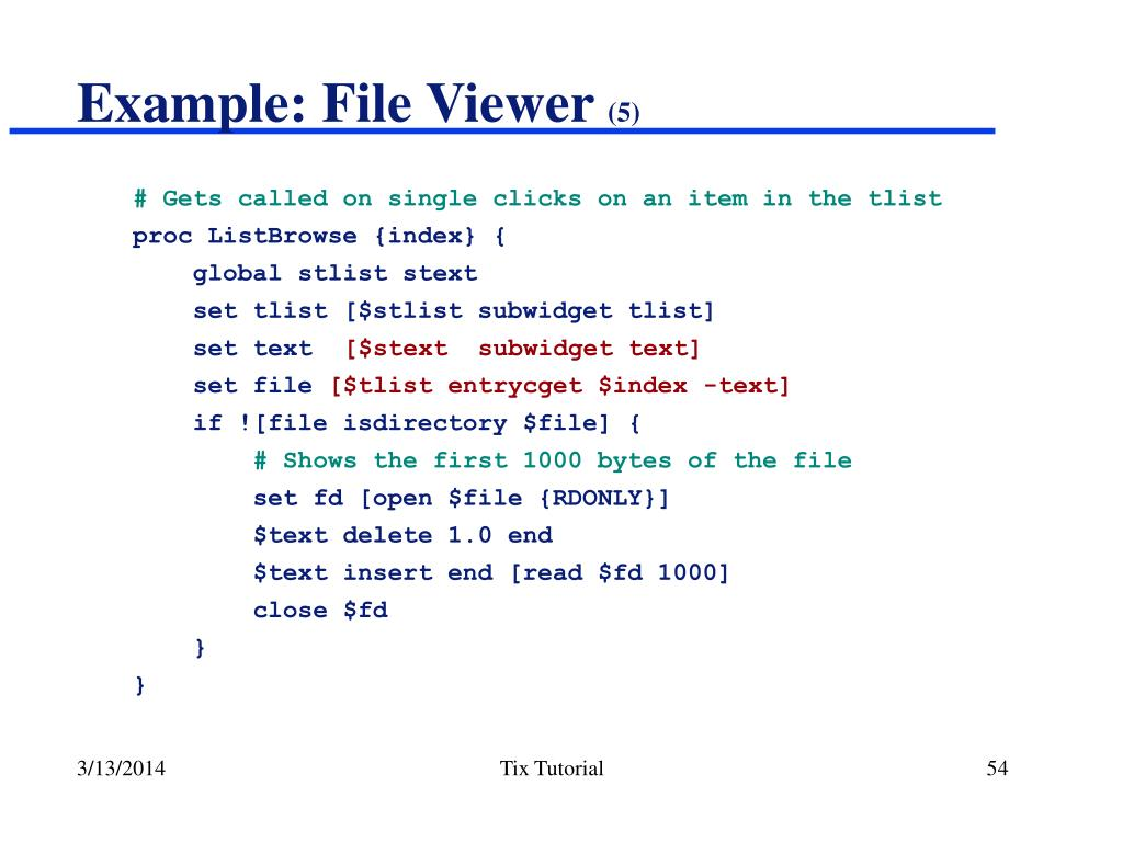 Example: File Viewer