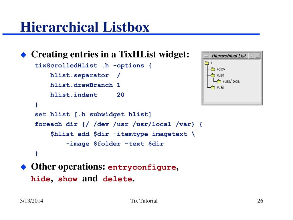 Hierarchical Listbox