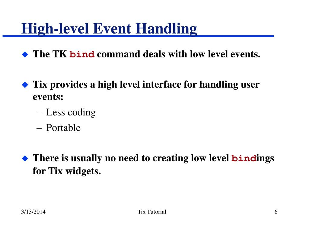 High-level Event Handling