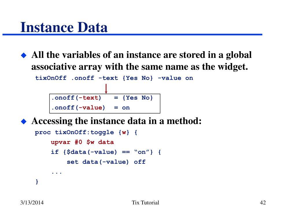 Instance Data