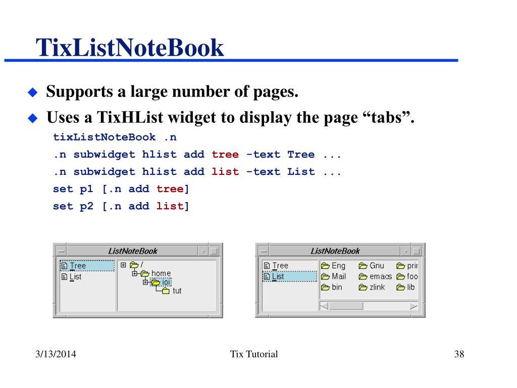TixListNoteBook