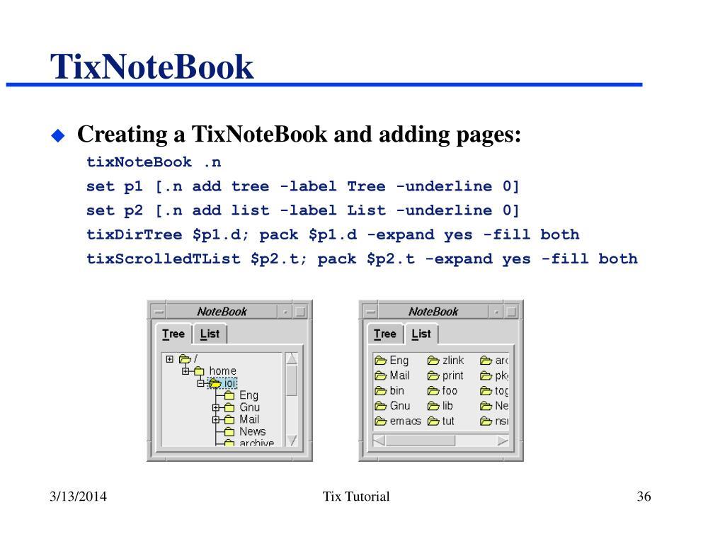 TixNoteBook