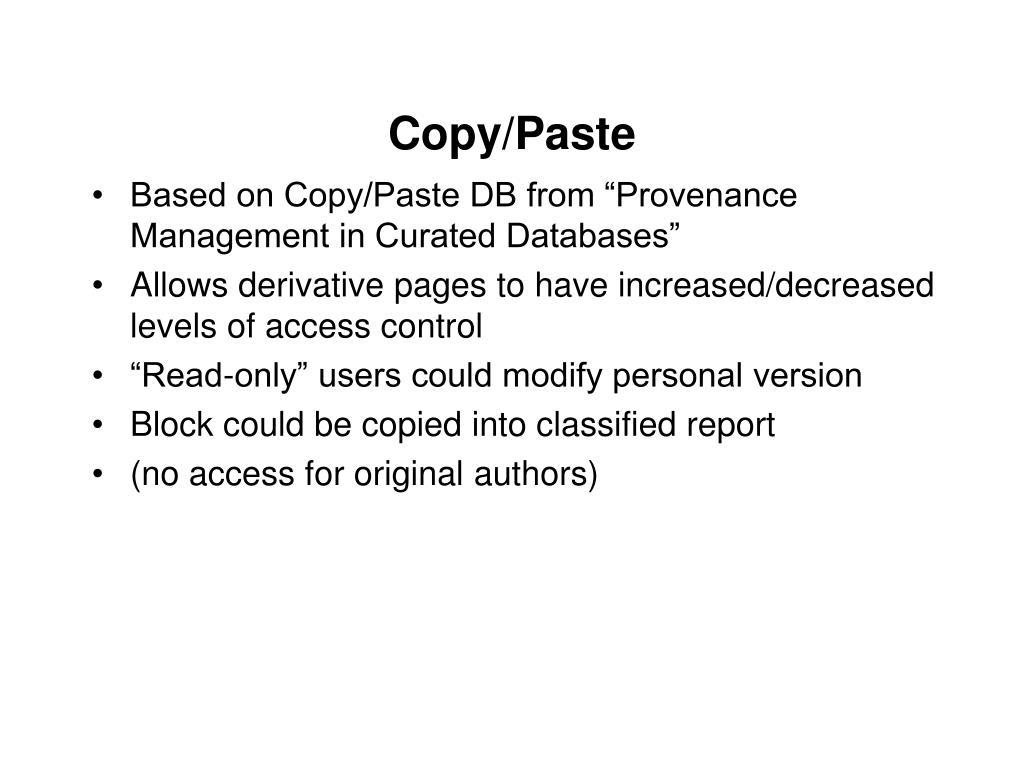 Copy/Paste