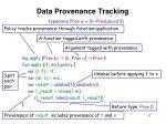 data provenance tracking17