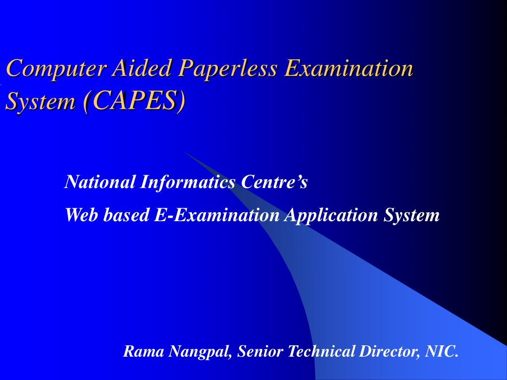 Computer aided examination