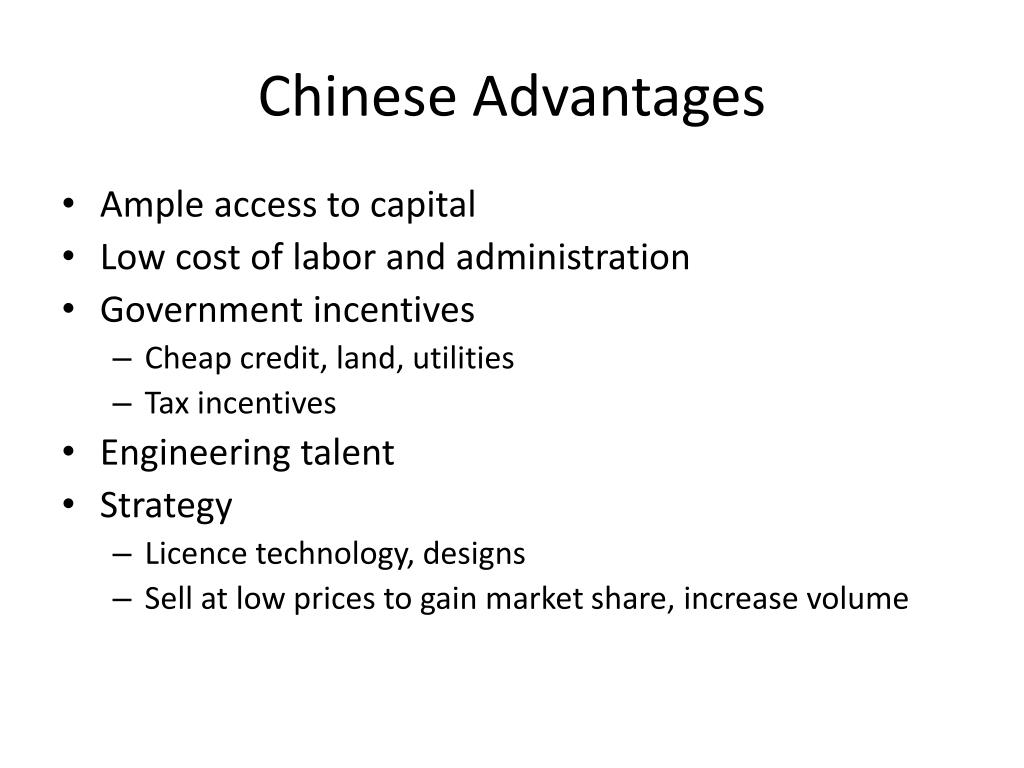 Chinese Advantages