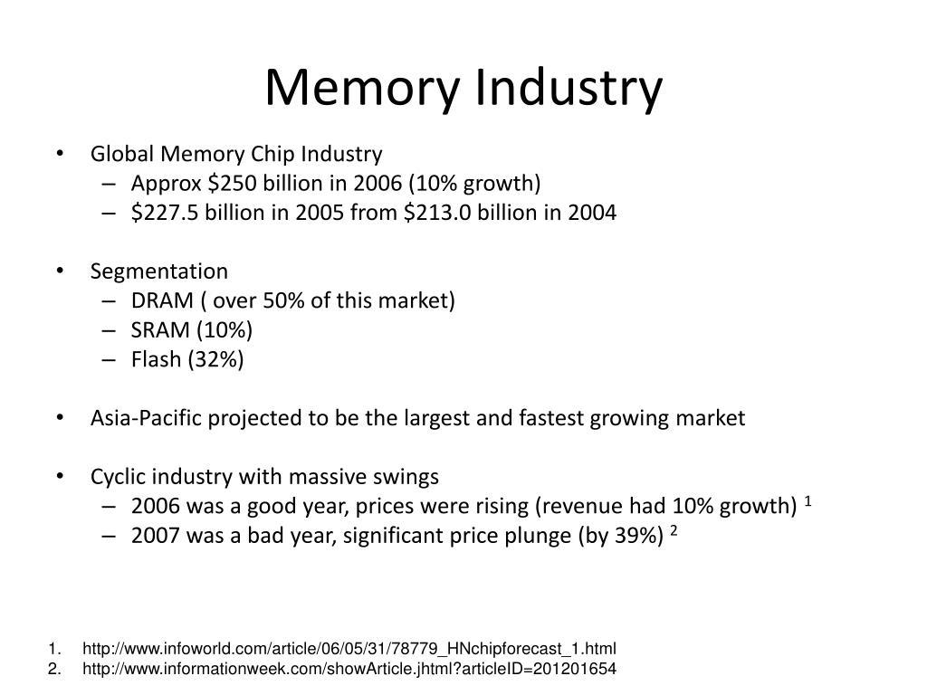 Memory Industry