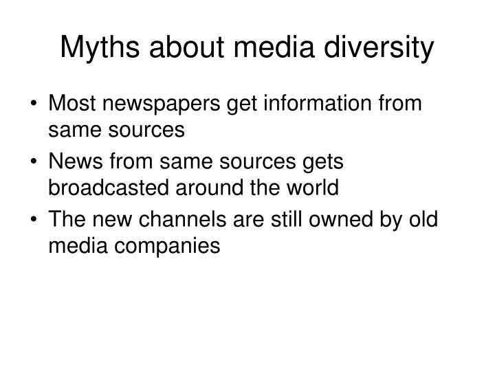Myths about media diversity