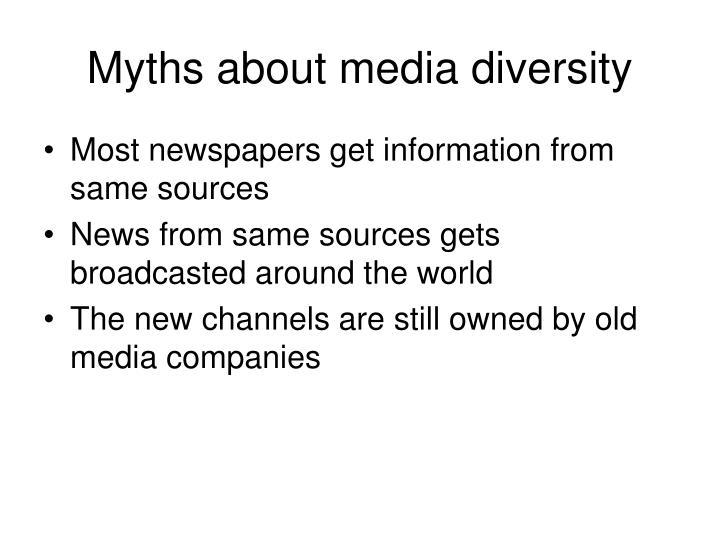Myths about media diversity