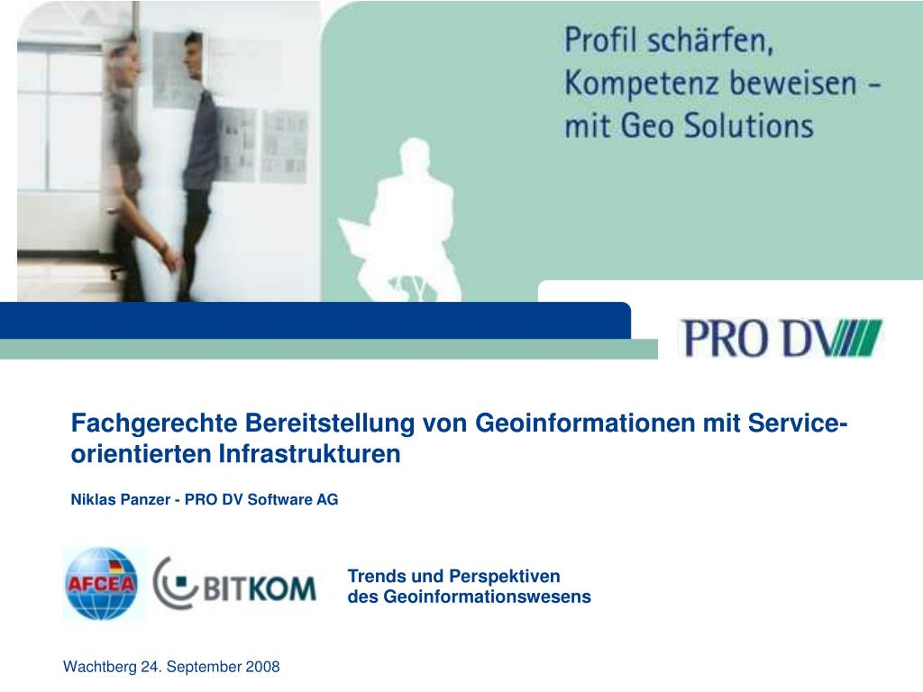 Fachgerechte Bereitstellung von Geoinformationen mit Service-orientierten Infrastrukturen